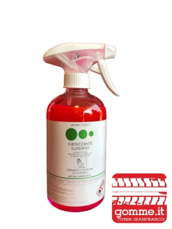 SPRAY DA 500 ML (VERDE)  IGIENIZZANTE SUPERFICI ANTIBATTERICO AZIONE IMMEDIATA